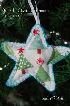 Lulu & Celeste: 12 Days of Christmas: Easy Star Ornament