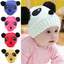 8bc348e27e69e 2015 New Colorful Baby Girl Boy Kids Panda Hat Knit Winter Warm Crochet Cap