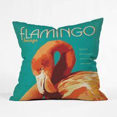 Flamboyant Flamingo Pillow Cover | dotandbo.com