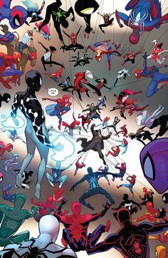 theres a yeehaw spiderman i- Marvel Comic Universe, Comics Universe, Marvel Art, Marvel Cinematic Universe, Spiderman Kunst, Spiderman Spider, Amazing Spiderman, Bd Comics, Marvel Wallpaper