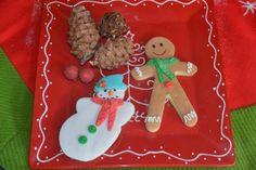 Christmas cookies Gingerbread man snowman polar bear elf pine tree snow scarf beenie decorations snowflake fondant