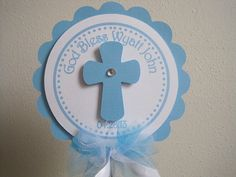 God Bless CenterPieces....Baptism...First by CreativePartyCrafts, $5.00