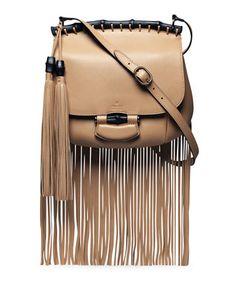 Nouveau Leather Fringe Shoulder Bag Tan By Gucci Black Purse Shoes