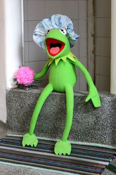 Sapo Kermit, Lazy Girl Hairstyles, Natural Hairstyles, Trendy Hairstyles, Kermit The Frog, Kermit Gif, Shower Cap, Simple Girl, Mood Pics