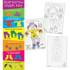 Ready To Decorate Scarecrow Glyph Posters And Banner Kit