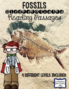 Going deeper into nonfiction texts is essential to student mastery of common core standards. Want ways to integrate social studies and science content into your nonfiction instruction, while differentiating for the needs of all learners? Look no further than these Fossils  differentiated reading passages and comprehension questions.