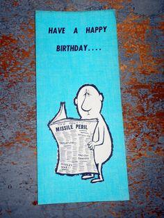 Vintage Cards Birthday Card Hallmark Greeting Funny Unused