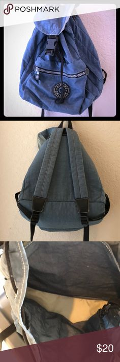 KIPLING BACKPACK Blue Kipling backpack! So much room! Great as a diaper bag, travel bag, any bag! Kipling Bags Backpacks