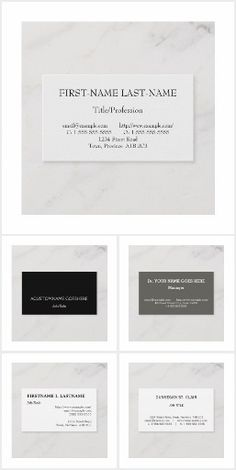 Extremely simple and minimalist business card designs. Minimalist Business Cards, First Names, Business Card Design, Cards Against Humanity, Collections