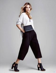 Широкие брюки кюлоты 2017 (116 фото): что это такое, кому идут и с чем носить женские модные кюлоты