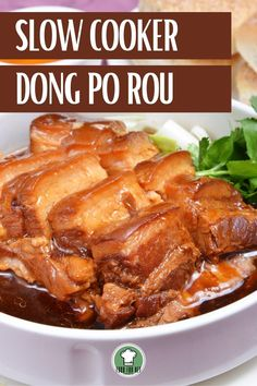 If you're needing a new recipe, this may be able to help you out! We have a slow cooker recipe for dong po rou! A mouth watering Chinese dish, with the simplicity and convenience of a slow cooker! #slowcooker #crockpotrecipes #dongporou #chineserecipe Crock Pot Slow Cooker, Slow Cooker Recipes, Crockpot Recipes, Pork Recipes, Asian Recipes, New Recipes, Gluten Free Chinese, Chinese Cooking Wine, Pork Belly