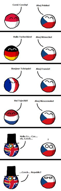 Hehe ') That's why I always use Czechia.. which, incidentally, is a direct rendering of the Greek name.