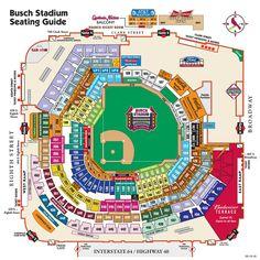 St louis cardinals seating chart for busch stadium my st louis