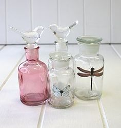 Decorative Glass Bottles - home accessories