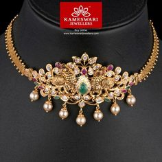 Gold Jewelry Kalapi Bhajubandh cum Choker - Bhajubandh and chain(included) L : inches ; Chain W: inches Pendant L : inches ;W : 2 inches Long Pearl Necklaces, Gold Choker Necklace, Jewelry Necklaces, Pendant Necklace, Cross Necklaces, Diamond Necklaces, Chain Jewelry, Collar Necklace, Necklace Set