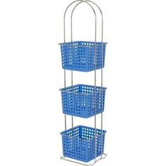 Marina Blue and Chrome Bathroom storage from Argos Bathroom Shelves, Bathroom Storage, Marina Blue, Argos, Bathroom Furniture, Garden Bathroom, Chrome, Home And Garden, Storage Units