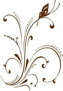 Brown Butterfly Tattoo Idea