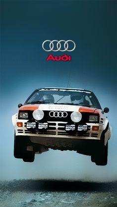 Audi Quattro, classic rally racer!