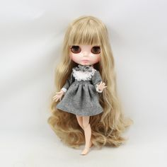 """8/"""" Middie Blythe Nude Fashion Doll Joint Body Frosted Face Toy for Your Kids New"""