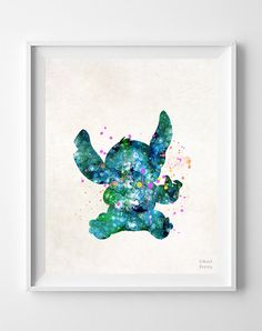 Stitch Disney Print Lilo and Stitch Movie by InkistPrints on Etsy