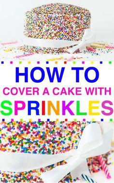 Easy Cake Decorating Themes And Ideas Vanilla Bean Frosting, Vanilla Cake, Cake Decorating Techniques, Cake Decorating Tips, Sprinkle Party, Sprinkle Cakes, Cake Hacks, Gateaux Cake, Rainbow Sprinkles