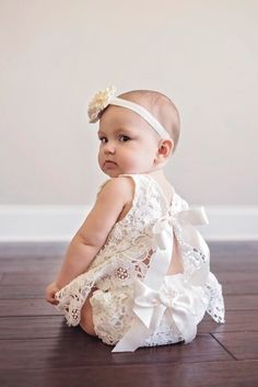 Available in sizes 1 month - 18 months. This ivory lace dress is perfect for dc358542a01