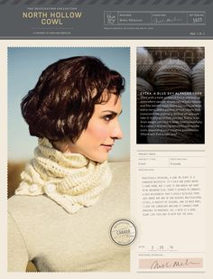 North Hollow Cowl in Blue Sky Alpacas Extra - 3820 (Downloadable PDF)