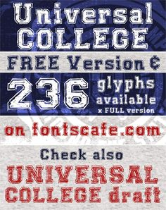 f45a34e43 UNIVERSAL-COLLEGE font by FontsCafe - FontSpace Page Layout, Type Fonts,  Clip Art
