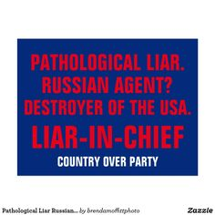 The Time Cover is fake, but this postcard is not.  Pathological Liar Russian Agent Liar-In-Chief Postcard #TimeCover #Resist