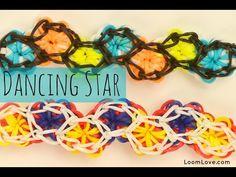 How to Make a Rainbow Loom Dancing Star Bracelet