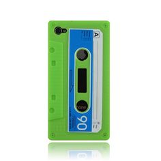 Green Silicone Cassette Case for Iphone 4 | I OWL YOU via iowlu.com