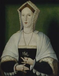 Unknown woman, formerly known as Margaret Pole, Countess of Salisbury  by Unknown artist  oil on panel, circa 1535