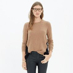 Madewell - Back-Zip Pullover in Colorblock -- Leave the back zip closed for a more traditional fit or unzip to create a fresh, swingy shape.