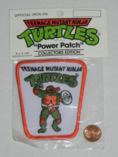 Vintage Teenage Mutant Ninja Turtles MICHAELANGELO PATCH from the 80's.. $1.99, via Etsy.