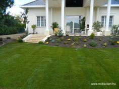 Rézsű kialakítás a terasz mellett