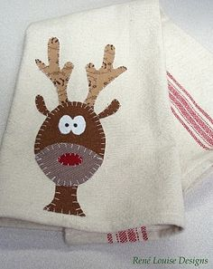 free applique pattern reindeer