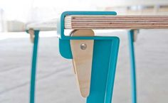 Table legs that can be put on any table top.  Convenient and looks nice, too.