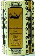Tyler Queen For A Day Gift Collection Set by Tyler Company. $21.50. 3 of teh 3.4 Oz Glass Candles. Approx Burn Time 20-26 hrs Each. A Great Gift Set for that special someone. Includes 3 3.4 oz -- Contains Stilettos (Intense), Lipstick and Attitude (Mulberry Moments)