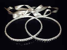 SET OF HANDMADE ORTHODOX WEDDING CROWN - PAIR OF GREEK STEFANA