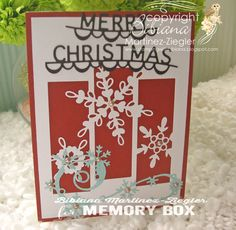 christmas snowflakes front card made with Memory Box dies, Christmas Snowflakes, Christmas Cards, Memory Box Dies, Arts And Crafts, Paper Crafts, Winter Time, I Card, Card Making, Diy Projects