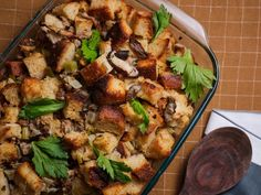 The Best Stuffing by Food Network Kitchen Stuffing Recipe Food Network, Best Stuffing Recipe, Stuffing Recipes, Food Network Recipes, Thanksgiving Stuffing, Thanksgiving Recipes, Holiday Recipes, Thanksgiving Table, Holiday Meals