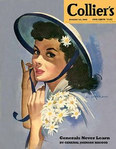 Summer bonnet loveliness on the August 23. 1941 cover of Collier's magazine.