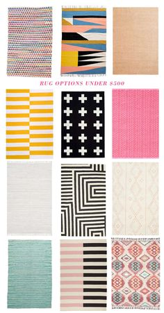 baby room rug options under $500