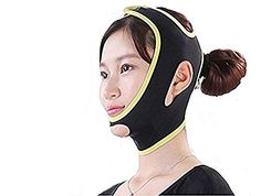 KOLIGHT Black Fashion Facial Exercise Anti Wrinkle Half Face Slimming Cheek Mask Lift V Face Line Slim up Belt Strap M >>> Check out the image by visiting the link.