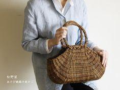 松野屋 あけび織編手提かご 小