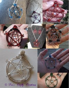 Wire wrapped pentacle necklace · Jen's Crafty Creations · Online Store Powered by Storenvy Pentacle, Wire Crafts, Jewelry Crafts, Wire Wrapped Jewelry, Wire Jewelry, Jewlery, Gold Jewellery, Wiccan Crafts, Wiccan Art