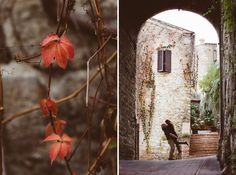 autumn love story photo session in San Gimignano, Tuscany, Italy