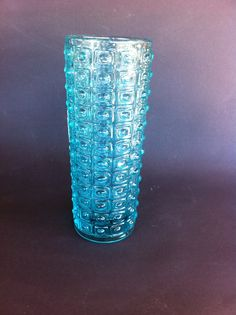 Vase Available in Clear. Antique Glass, Czech Glass, Blue Yellow, Decorative Items, Glass Vase, Antiques, Tableware, Design, Home Decor