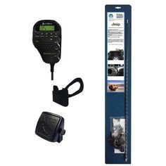 Mopar / Jeep Licensed - Complete CB Radio and Antenna Kit for Jeep Wrangler - Black