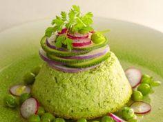 Recette Terrine de petits pois à la menthe - Feminin Bio Raw Vegan, Vegan Vegetarian, Avocado Toast, Breakfast, Desserts, Kitchen, Bio, Pesto, Mint
